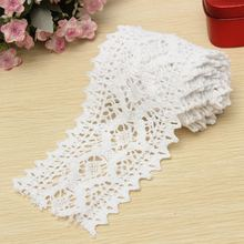 2 Yard Long Vintage Cotton White Crochet Scallop Pattern Lace Trim DIY Embroidered Sewing Stretch Border Trim(China)