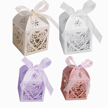 3Pcs/set Love Heart Laser Cut Gift Candy Boxes/Packing Wedding Party Favor Hollow Carriage Candy Boxes Paper Gift Box Supplies,Q