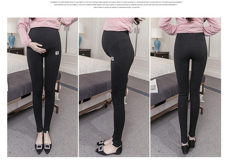 Plus Size Winter Velvet Pregnancy Leggings Pants For Pregnant Women Maternity Leggings Warm Clothes Thickening Trousers Clothing 6