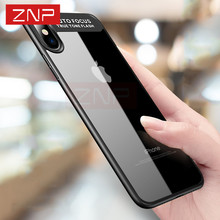 "ZNP Full Cover Protective Case For iPhone X 10 TPU & PC Hard Clear Slim Back Cover For Apple iPhone X Case 10 5.8"" Phone Cases(China)"