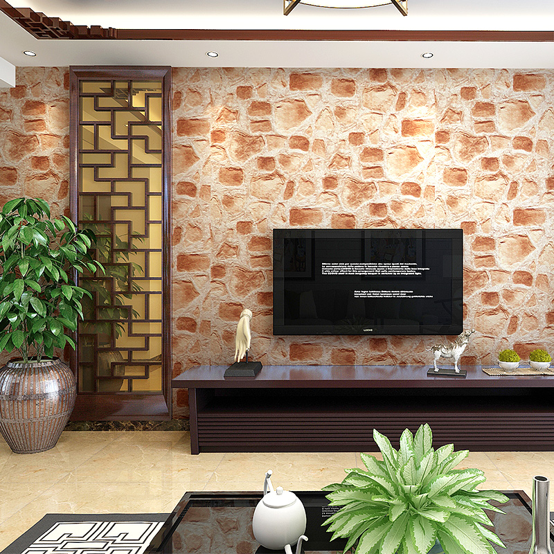 Vintage Embossed Wallpaper Brick Wall Roll Modern Grey 3D Brick Wallpaper For Walls Living room Tv Background Wall Covering<br>