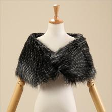 Elegant Warm black Bolero Wedding Wrap  cape coat black winter warm Shawl Bridal Jacket Coat Accessories W-11