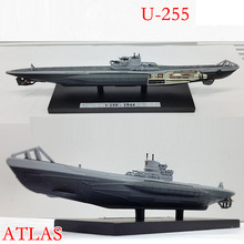 ATLAS World War II Germany U255 1944 Submarine Model 1/350 Scale Diecast Finished Alloy Toy For Collect Gift