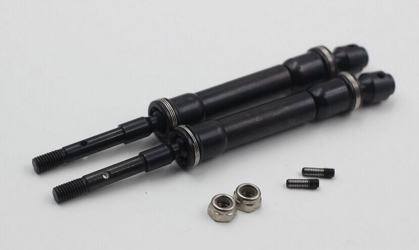 RCSUQARE Hardened Steel Rear CVD axles set for Traxxas Slash Stampede 4x4 Rally<br>