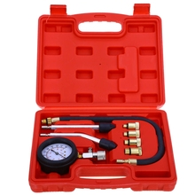 9 PCS Petrol Gas Engine Cylinder Compressor Gauge Meter Test Pressure Compression Tester Leakage Diagnostic Car Diagnostic Tool