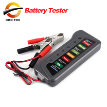 12V Auto Car Digital Battery Alternator Tester 6 LED Lights Display Diagnostic Tool for Cars Motorcycle Batteries free shipping