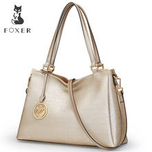 FOXER Brand New Fashion Women Leather Shoulder Bag Ladies Handbag Female Luxury Bags Women's Leather Bags Tote For Women(China)