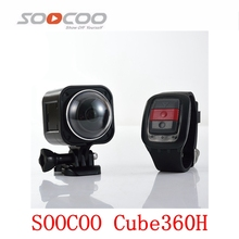 SOOCOO Cube360H 4K Camera Wifi NTK96660 Waterproof 15m with Remote Controller Camera(China)