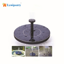 Lumiparty Hot Sale 7V  Solar Panel Floating Water Pump Garden Plants Water Power Fountain Pool