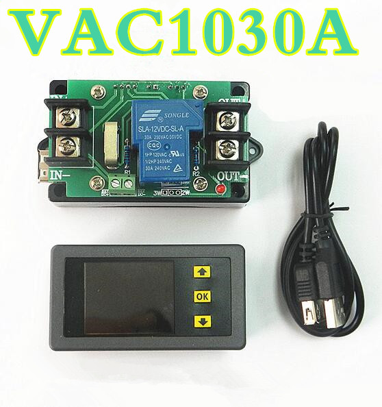 VAC1030A Wireless Voltage Meter  Current Power Capacity tester Discharging Monitor table  with shutdown protection 120v/30A<br><br>Aliexpress