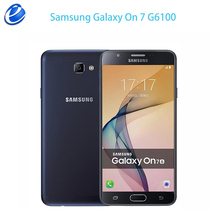 Unlocked Original Samsung Galaxy On 7 2016 G6100 4G LTE Dual SIM J7 Prime fingerprint Android phone On7 5.5'' Quad Core 13MP(China)