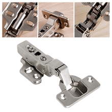 OOTDTY 35mm Soft Close Full Overlay Kitchen Cabinet Cupboard Hydraulic Door Hinge Cups