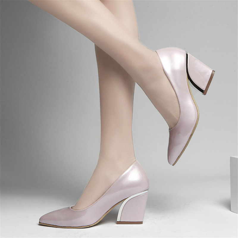 2015 wedges pointed toe nude color high-heeled shoes single shoes shallow mouth thick heel wedding shoes plus size womens shoes<br><br>Aliexpress