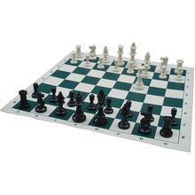 Size L Chess Game Set Pieces Plastic with Board 50x50cm Chessman King 97mm(3.82in) Toys Table Games 2017 ajedrez
