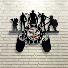 Free Shipping 1Piece Gamer Vinyl Wall Clocks Gift For Game Enthusiasts LP Record 3D Clock Modern Home Decorative Art Wall Clock