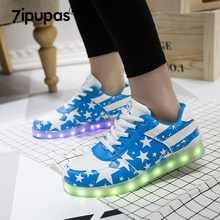 7ipupas tenis masculino adulto glowing mens shoes casual basket femme led lighted zapatos de los hombres Luminous shoes men(China)