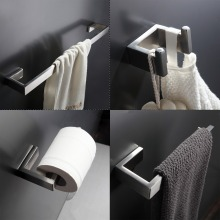 304 Stainless Steel Bathroom Accessories Set Single Towel Bar, Robe Hook, Paper Holder Bath Hardware Sets(China)