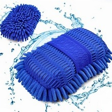 1PCS Car Cleaning Sponge  Car Wash Gloves Car Window Cleaning Ultrafine Fiber Chenille Anthozoan Washer Sponge Brush Supplies