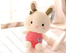 cartoon pink rabbit about 25 cm butterfly rabbit plush toy soft toy birthday gift h600(China)