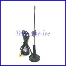 433MHz antenna 3dbi SMA Plug Male Crimp Aerial 1.5M RG174 Cable Magnetic Base(China)