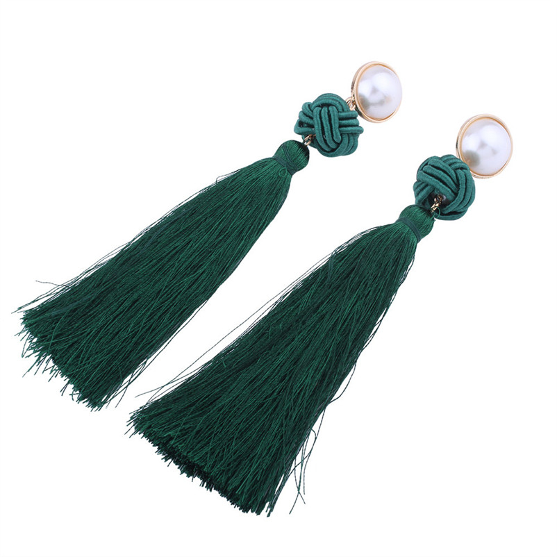 Trendry Earrings for Women Vintage Bohemian Fashion Weave Tassel Earrings Long Drop Earrings Jewelry for gift Brincos J05#N (10)