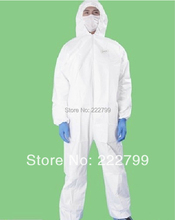 Summer disposable Waterproof Breathable Thicken Oil Resistance protective clothing Attached membrane coverall clothes SC011