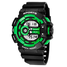 High Quality Men Sport Double Display Show Digital WR50M Swim Waterproof Resistant watch Led Light Outdoor Quartz Wristwatch K41(China)