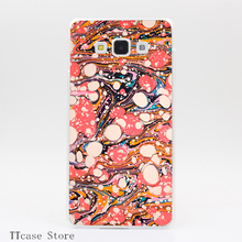 2785CA Psychedelic Retro Marbling Paper Transparent Hard Cover Case for Galaxy A3 A5 A7 A8 Note 2 3 4 5 J5 J7 Grand 2 & Prime