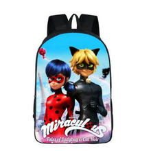 Anime Printing School Bag Miraculous Ladybug Backpack Marinette School Backpacks Cat Noir Backpack For Children Fashion Book Bag(China)