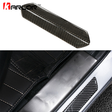 2pcs/lot Carbon Fiber Car Outside Door Sill Plate Guard Frame Left & Right Trim Automobiles Car Styling Stickers Accessories(China)