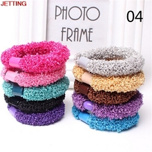 JETTING-10pcs/lot Elastic Hair Rope Women Headbands Corn Flower Headwear Hair Holders Hair Accessories