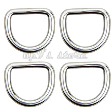 Free Shipping 10PCS 5MM Diameter Forged AISI 316 Stainless Steel Welded D Ring Boat Hardware Rigging Hardware