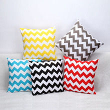 Cotton Linen Geometry Striped Cushions No Filler Home Decor Decorative Throw Pillows Cases 45*45cm Car Office Seat Chair Pillow