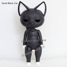 Buy OUENEIFS bjd sd dolls Small Black White Cat 1/12 body reborn baby girls boys dolls High toys shop dollhouse silicone resin anime
