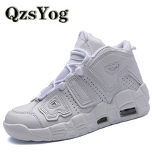 QzsYog Men Basketball Shoes Air Cushion High Top Sneakers Outdoor Sport Athletic Women Leather Ankle Boots Basketbol Ayakkabi(China)