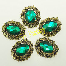#773 oval buttons with crystal or rhinestone embellishments flowers decoration for embellishments(20 pcs/lot