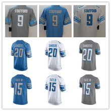 Youth's Matthew Stafford Barry Sanders Golden Tate Darius Slay Custom Lions Olive Salute Vapor Untouchable Jersey(China)