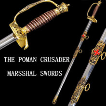 Chinese style home decoration sword not opened exquisite stainless steel sword roman crusader marshal swords Damascus Katana