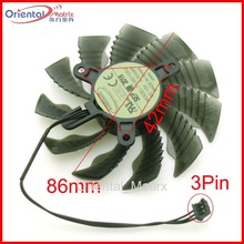 T129215SU 12V 0.50A 86mm 3Pin VGA Fan For Gigabyte GV-N1050D5-2GD GTX1050 GTX1060 Graphics Card Cooling Fan