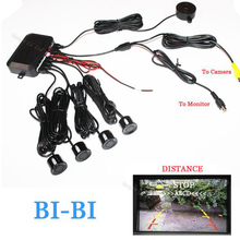 Dual Core CPU Car Video Parking Assistance Sensor Reversing Radar Video all-in-one System Connect Parking DVD & Monitor & Camera(China)