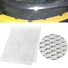 Universal 100cm x 33cm Aluminium Car Racing Grille Mesh Vent Car Tuning Grill Silver