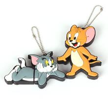 Usb Stick usb flash drives cartoon cat mouse USB Flash 2.0 Memory Drive Stick S101 pendrive(China)
