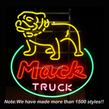 Mack Truck Neon Sign BEEP Neon Bulbs Glass Tube Custom Free Design Handcrafted Arcade neon sign Neon Glass Light Signs 24x20(China)