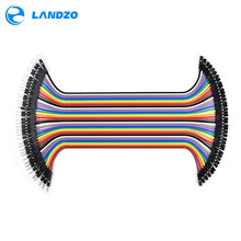 Dupont line 40pcs 20cm male to female jumper wire Dupont cable breadboard cable jump wire for arduino Free shipping breadboard(China)