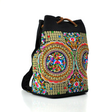 Wholesale ladies student backpack book bag school bag High quality retro embroidery student bags free shipping beautiful cute