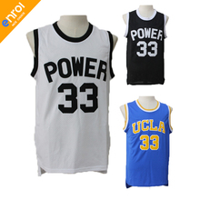 Men Retro Alcindor Kareem Abdul Jabbar Basketball UCLA Jersey 33# Power Memorial Academy High School Throwback Embroidery Shirts(China)