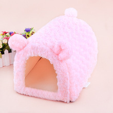 2016 new! pet Princess style Rose Velvet pig /dog / cat /rabbit/ bunny house cage nest bed mats kennel different sizes