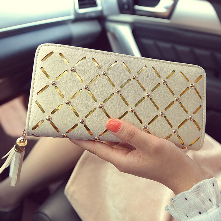 2017 New Fashion Geometric Women Wallets Bronzing Tassels Wallet Female Clutch Zipper Purses Carteira Feminia Gift<br><br>Aliexpress