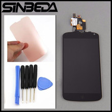"Sinbeda 100% Guarantee For LG Google Nexus 4 Optimus E960 4.7"" LCD Display + Digitizer Touch Screen Replacement+free adhesive(China)"