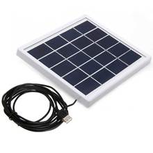 5V 800MA 4W Mini Solar Panel DIY with USB Output for Ourdoor Cell Charger Home Lighting